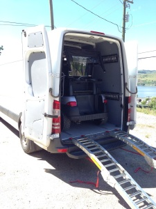 It went home in a VAN! A sprinter to be exact! That is an SC Carts first.