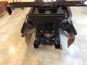 Here we installed the completely redone front suspension bracket with new monroe front shocks.