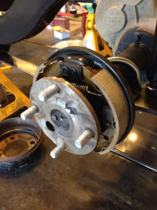 Brand new brake pads will ensure this hot rod of a golf cart will stop on a dime.
