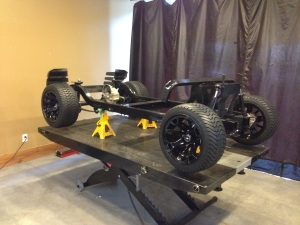 Now we have a rolling chassis, this electric buggy looks awesome.