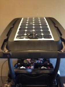 The LUXE edition cart wouldn't be complete without our SC Carts solar charging system.