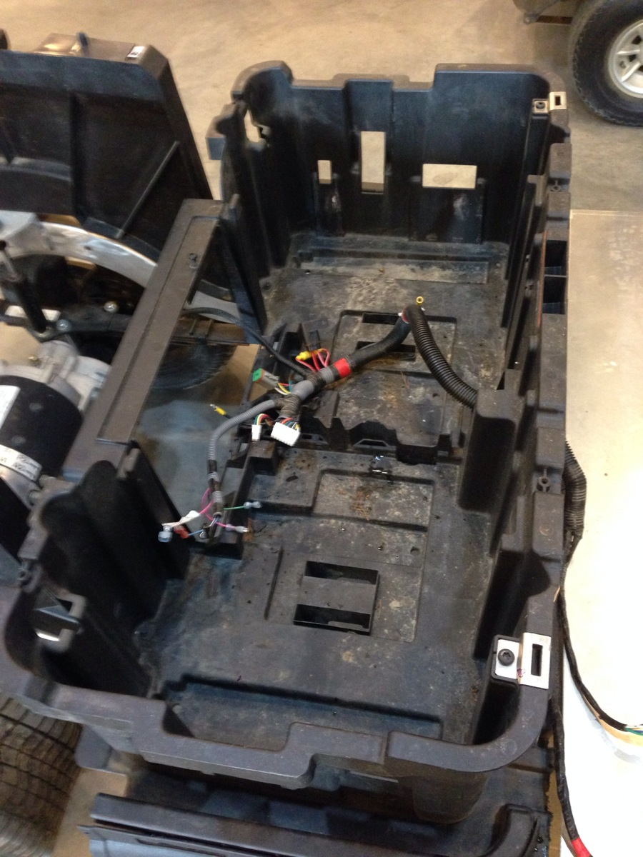 Sc Carts Custom Stretch Golf Cart Wiring Harness Here We Are Laying Out The Getting Things Ready To Be Extended