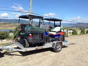 Loaded up and ready to go. The Oilers cart and Jamie's cart are going to be within 70kms of each other. How cool is that!