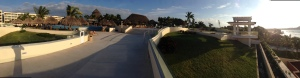 Here's a pano picture from the sunset lounge looking back at the main pool area.