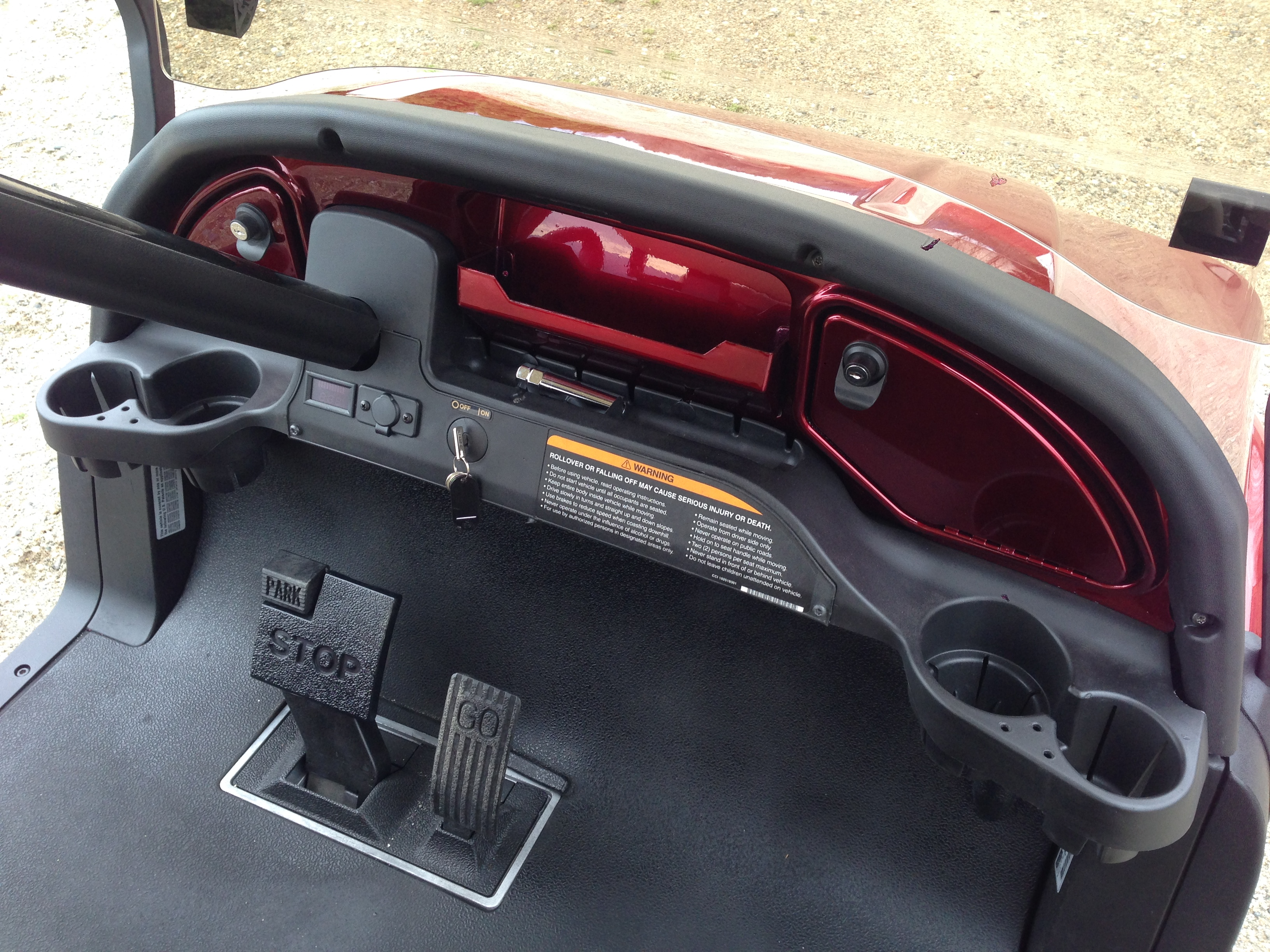 Predator Ridge Metallic Burgundy Phantom Club Car Precedent Part