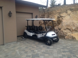 Here it is delivered to it new amazing home at Predator Ridge Golf Resort. An amazing cart for awesome customers!