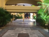 A walk to our rooms
