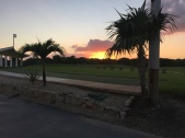 Sunset at the driving range